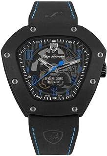 Tonino Lamborghini - TLF-T06-4 - Reloj automático de esqueleto, color azul titanio