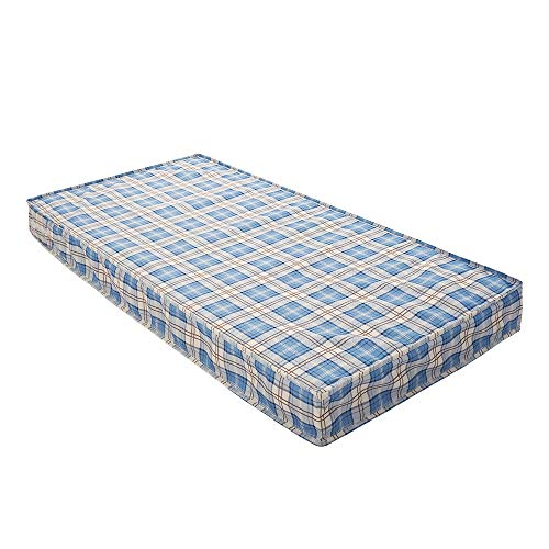 Panana New Cheap Economy Budget Mattress 3ft Single (Blue Grid, 3ft Single 90cm x 190cm x 15cm)