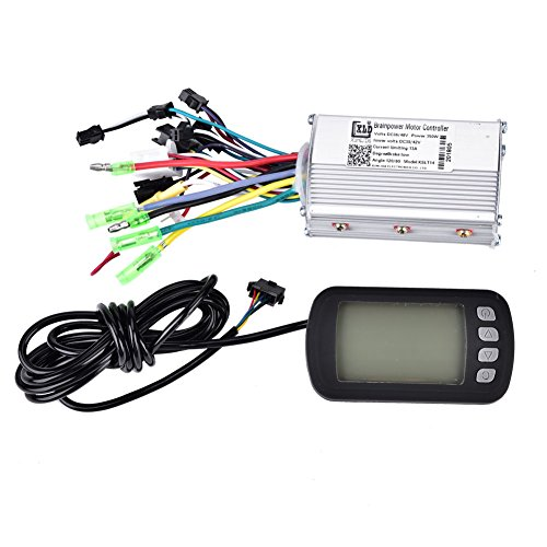 Motor Brushless Controller, Electric Brushless Controller 36V/48V 350W with LCD Panel for E-bike Electric Bike Scooter