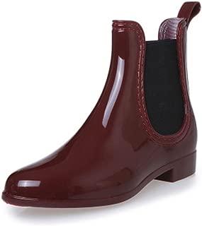 katliu Unisex Rain Boots Women Chelsea Casual Shoes Non Slip Elastic Mens Short Ankle Booties