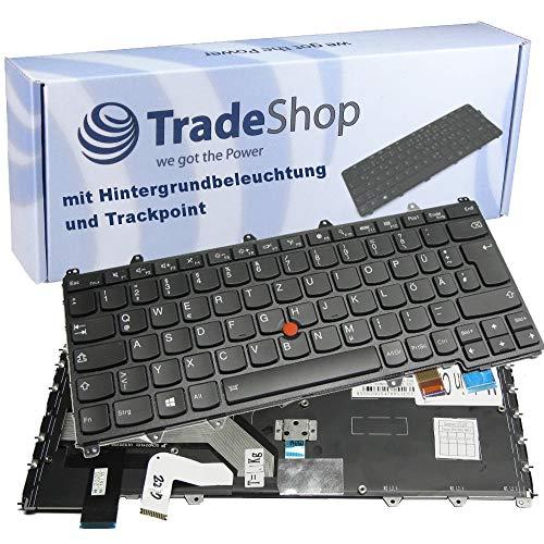 Trade-Shop Original Laptop Tastatur/Notebook Keyboard DE QWERTZ für viele IBM Lenovo Laptops wie ThinkPad Yoga 260 460 - mit Hintergrundbeleichtung