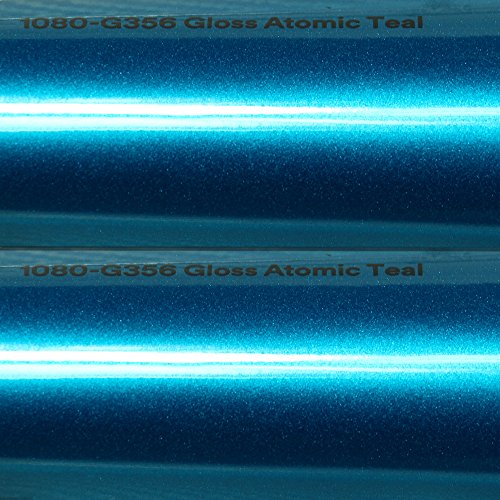 25,99€/m² 3M Autofolie Scotchprint Wrap Film 1080 Gloss G356 Atomic Teal gegossene Glanz Profi Folie 152cm Breite BLASENFREI mit Luftkanäle