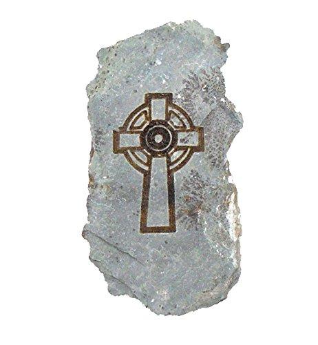 MyStones Engraved Irish Stone Celtic Cross