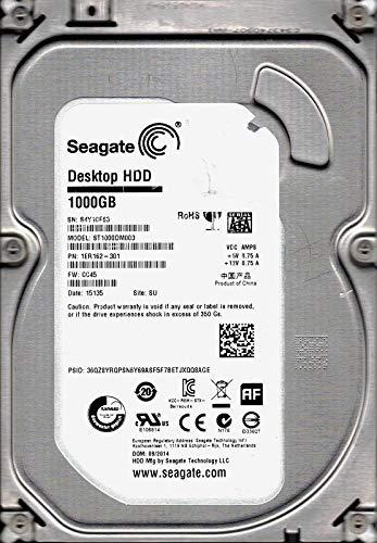 Seagate ST1000DM003SATA P/N: 1er162–301F/W: cc45SU S4Y 1TB