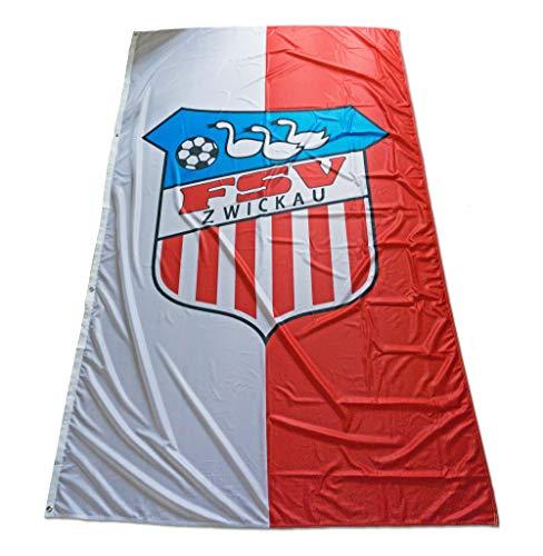 FSV Zwickau Fußball Hissfahne Fahne Flagge 150x250 cm Lizenzprodukt