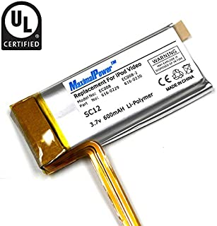 MaximalPower Replacement Battery for Apple iPod Video/Classic 30GB