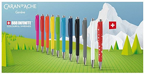 Caran d'Ache 888 Infinite Ballpoint Pen, Pink Resin Hexagonal Barrel (888.090) Photo #2
