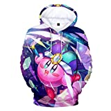 Kirby Pullover Kids Lovely Hooded Sweatshirt Children Casual Tops Printing Hoodie Pullover Girls (Color : A15, Size : 130)