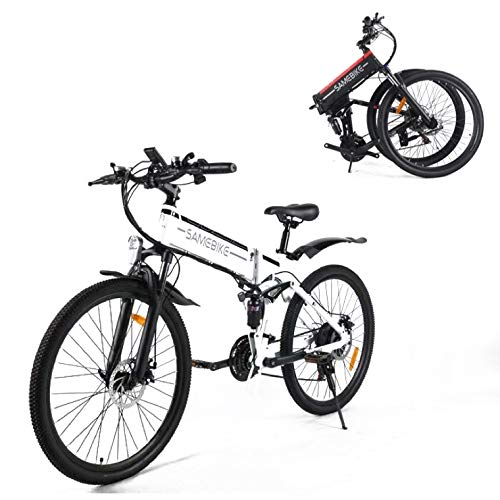 SAMEBIKE Bicicleta de Montaña Eléctrica Plegable de 26 Pulgadas, Bicicletas Eléctricas Motor...