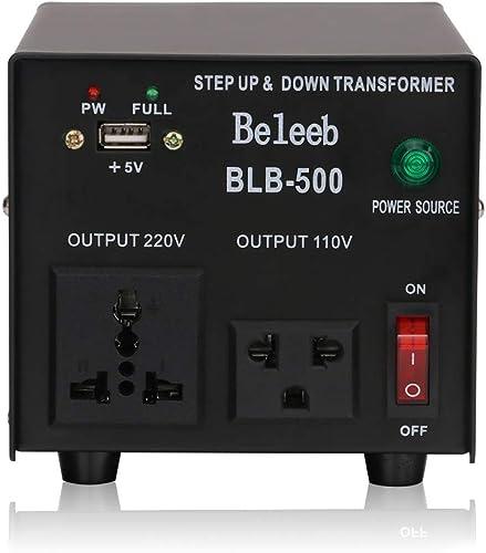 Auto Step Up & Step Down Voltage Transformer Converter - Step Up/Down 110/120&220/240 Volt (500W)