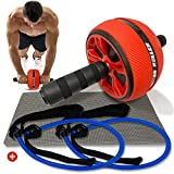 Ab Roller - Ab Machine - Ab Wheel - Ab Roller Wheel - Ab Wheel Roller For Core Workout - Abdominal Exercise Equipment - Ab Workout Equipment For Women & Men - Ab Workout - Abs Roller - Ab Roller Kit