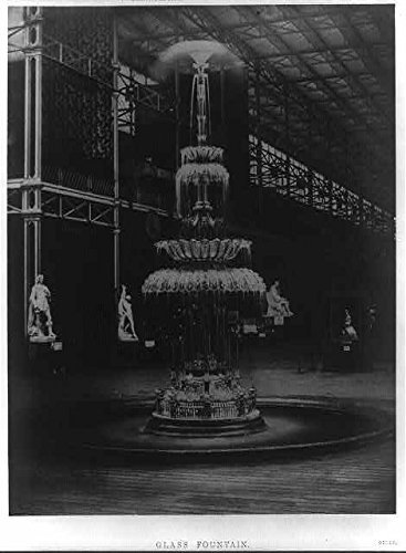 Infinite Photographs Photo: Photo of Glass Fountain,Hall,Exhibition MDCCCLI,London,England,1851,Water