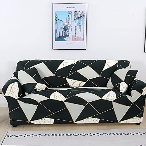 Toalla de sofá con Funda geométrica Rosa elástica Flexible, Funda de sofá Envuelta con Todo Incluido para sillón de sofá de Diferentes Formas A17 de 4 plazas