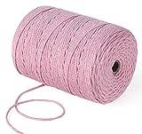 Homewit Hilo de macramé de 3 mm de colores, hilo de algodón de macramé, 300 m...