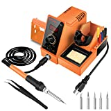 AICase Digital Soldering Iron Station, 60-Watt, 110 Volt, 392°F-896°F Temperature Adjustable, 6...