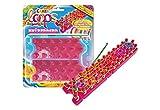 CRAZE Loops Knüpfboard-Blister für Knüpfringe Silikonringe Armband Silikon Bänder Gummi Mega US-Trend 50881, bunt