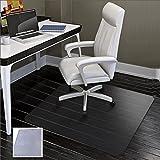 SHAREWIN Office Chair Mat for Hard Floors - 47''×47'',Heavy Duty Clear Wood/Tile Floor Protector PVC Transparent