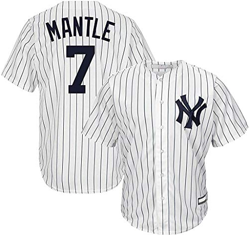Mickey Mantle New York Yankees MLB Boys Youth 8-20 Player Jersey (White Home, Youth Medium 10-12)