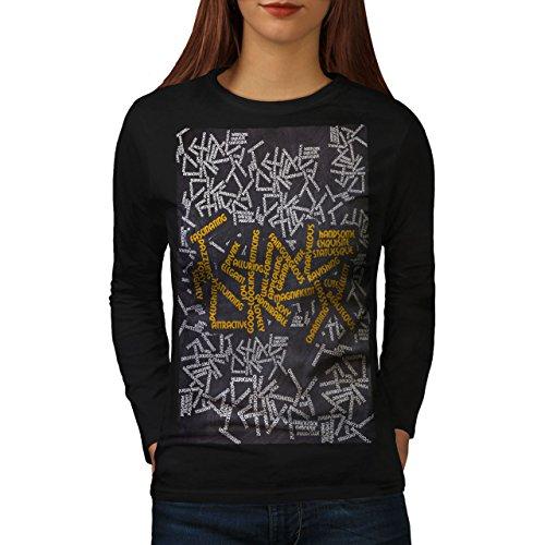 wellcoda Schön Synonyme Slogan Frau Langarm T-Shirt Cool Lässiges Design