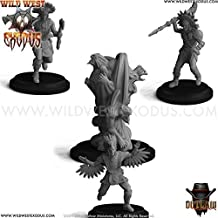 Wild West Exodus Warrior Nation Braves of the Great Spirit Set 4 Models Sidekick by Outlaw Miniatures