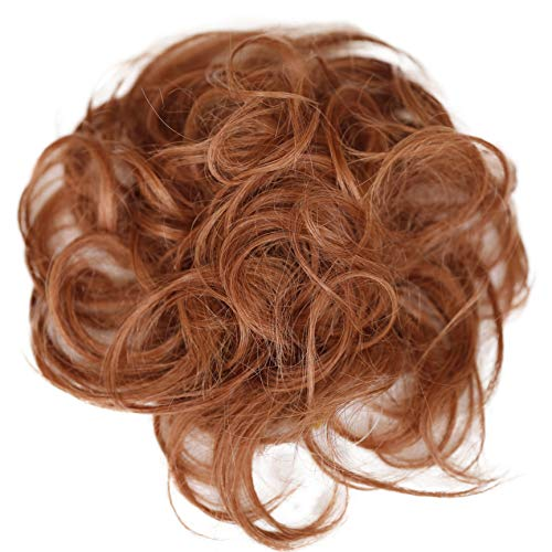 PRETTYSHOP 100% ECHTHAAR Haargummi Haarteil Haarverdichtung Zopf Haarband Haarschmuck Kupferbraun H312c