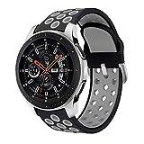 Sycreek 22mm Correa de Reloj Compatible para Samsung Gear S3 Correa de Silicona Doble Color Pulsera de Repuesto para Galaxy Watch 46mm/Gear S3 Frontier/Gear S3 Classic