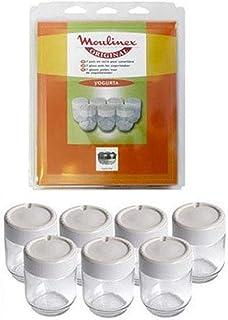 Lot De 7 Pots Yaourtiere Moulinex Pour Pieces Preparation Culinaire Petit Electromenager Moulinex