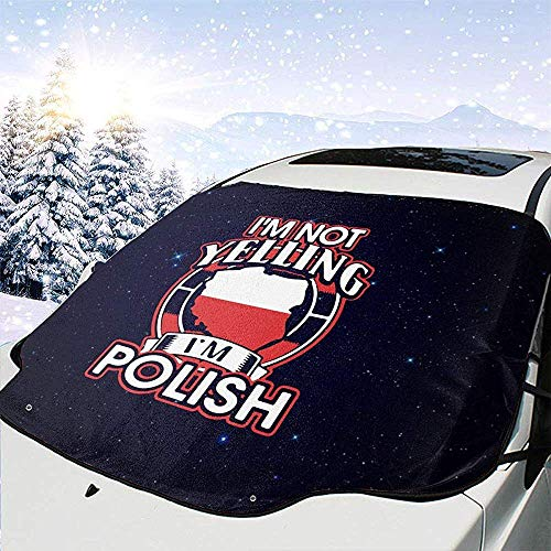 GOSMAO Cubierta de Nieve para Parabrisas Delantero de automóvil Star I 'M Not Yelling I' M Pulido Protector de protección contra heladas, Cubierta de Hielo, Parasol de automóvil Impermeable 147x118cm