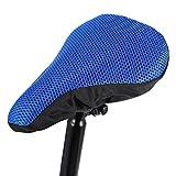 LXHY Accesorios para Bicicletas Cubiertas de Asiento de Bicicleta de Malla Transpirables Cubiertas de Asiento de Bloque de Sol Accesorios para Bicicletas Durable (Color : Blue)