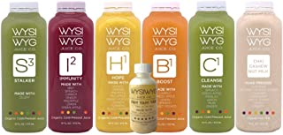 5 Day Immunity Juice Cleanse by WYSIWYG Juice Co | Cold-Pressed, Organic, Raw No Additives | Detox | 16 Ounce Bottles (Cha...