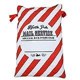 Weihnachten Canvas Tasche rote und weiße diagonale Streifen Bündeltasche Baumwolltasche Süßigkeiten Weihnachtstasche