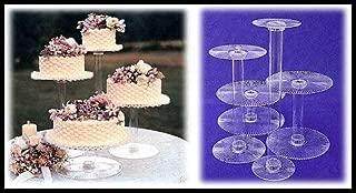 PLATINUM CAKEWARE 4 Tier Clear Spiral Cascade Wedding Cake Stand (R400-A)