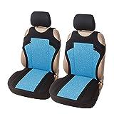 Asiento delantero del coche de la cubierta de la camiseta del asiento de coche del protector del interior del coche de poliéster Azul Gris Rojo (Color Name : Blue Car Seat Cover)