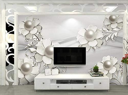 Papel Pintado 3D Flores De Joyería De Moda Elegante Fotomural 3D Murales Papel Tapiz Pared De Fondo De Tv Wallpaper-430X300cm