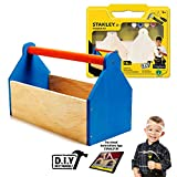 Stanley Jr DIY Toolbox Kit for Kids - Easy to Assemble Wood Craft Toolbox - Build A Tool Box for Kids - Paint & Brushes Included