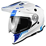 Casco Mx Just1 J34 Adventure Blu Neon (S , Bianco)