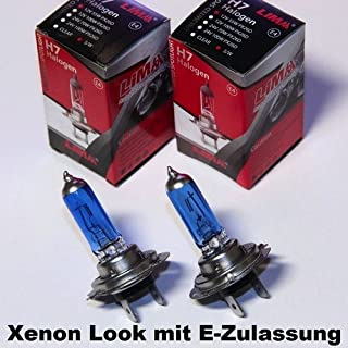 lima 2 x H7 Xenon Look 12V 55W Halogen Lampe super Weiss