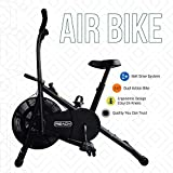 Reach Ab-110 Air Bike Fitness Cycle with Moving/Stationary Handle Adjustment (Multi-Color)