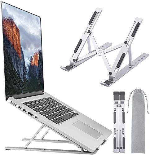 SUFUS Supporto PC Portatile, Angolazione Regolabile Portatile Pieghevole PC Stand, Alluminio Ventilato Supporto per MacBook PRO Air iPad Laptop Huawei Matebook D HP Altri 10-15.6  Laptop Tablet iPad