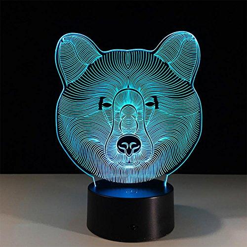 baby Q LED 3D Lampe, Lumiã¨Res tactiles Colorã©ES d'ours, Lumiã¨Res créatrices acryliques de Cadeau, Lumiã¨Res actionnéES par USB