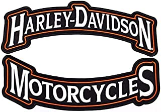 Harley Rocker Patches Embroidered Motorcycle Patch Large - by Nixon Thread Co. (12