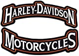 Harley Rocker Patches Embroidered Motorcycle Patch Large - by Nixon Thread Co. (12')