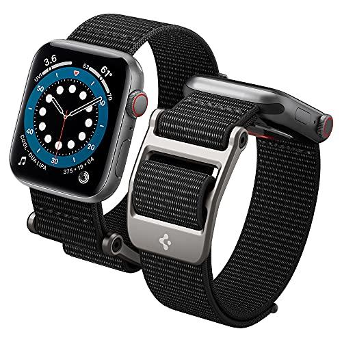 Spigen DuraPro Flex Compatible con Watch Cinturino per 44mm Serie 6/SE/5/4 e 42mm Serie 3/2/1 - Nero