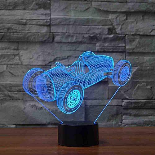 GZGNL Gran Torino Touch Wecker Tischlampe 7 Farbwechsel Schreibtischlampe 3D Lampe Neuheit Led Nachtlichter Todesstern Led Licht