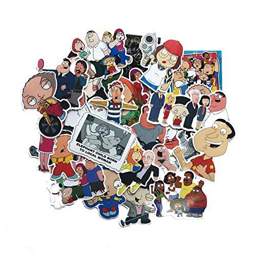 Later Family Guy Family Guy Luggage Trolley Suitcase Sticker Cute Cartoon Children Graffiti Sticker 67PCS