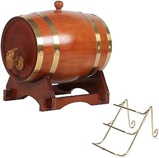 Tonneaux de vin en Bois, Tonneau de vin en Bois Tonneau de Whisky 5L, Seau de décoration de Restaurant Bar avec casier à v...