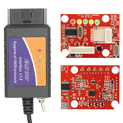 ELM327 USB V1.5 modifiziert für Ford Forscan ELMconfig CH340 + 25K80 Chip HS-CAN/MS-CAN