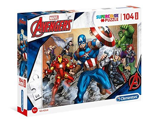 Clementoni - 23985.6 - Maxi Puzzle - The Avengers - 104 Pièces