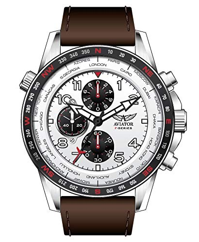 Aviator F-Series AVW78420G387 World Cities Reloj cronógrafo para Hombre