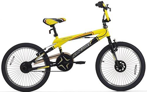 Cicli Cinzia Bicicletta 20 BMX Acciaio Jetix Nero/Giallo Vivo 2157